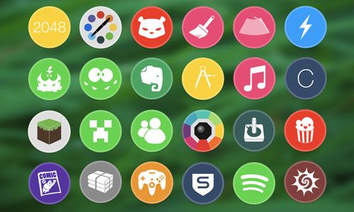 circle icon set