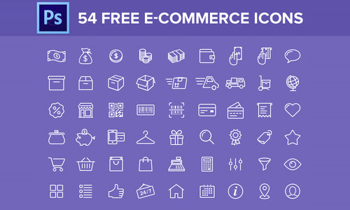 free e-commerce icons lines