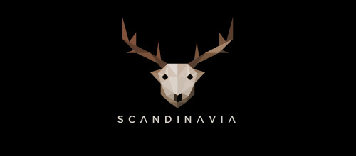 Scandinavia logo lowpoly