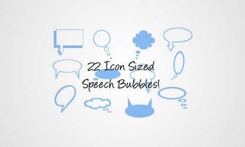 speech bubbles free