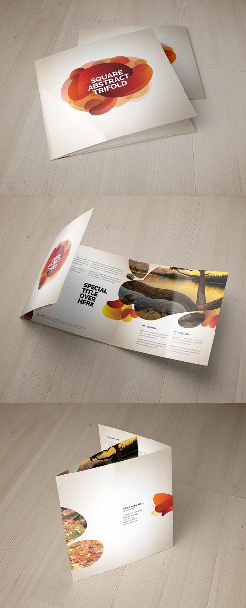 square abstract brochure
