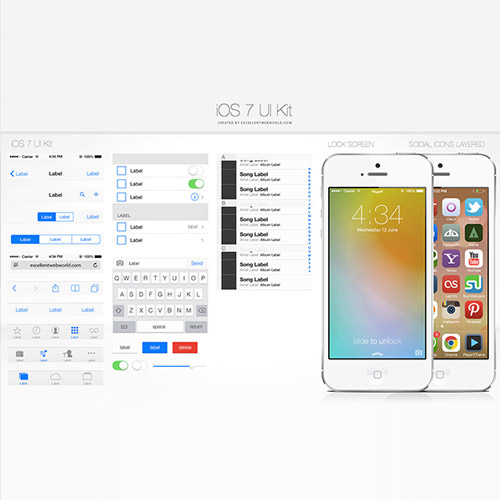 ios7 ui kit free