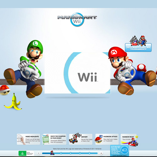 mari wii parallax website