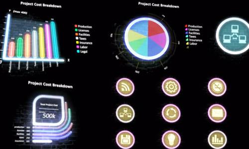 neon infographics kit