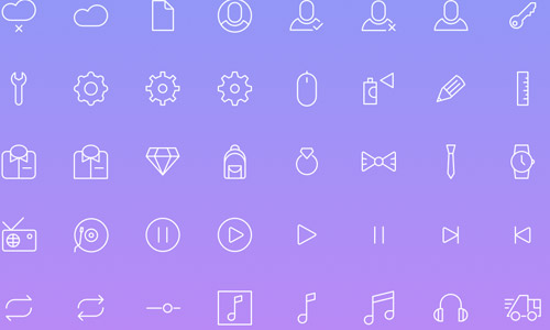 simple free line icons