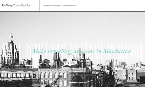 creative greyscale website