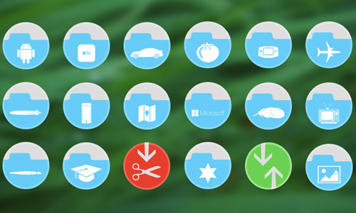 folder circle icons