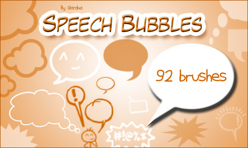 free photoshop brushes speech bubbles