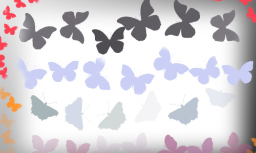 hi res butterfly shapes
