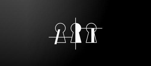 keyhole art logo design