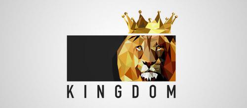 lion low poly logo