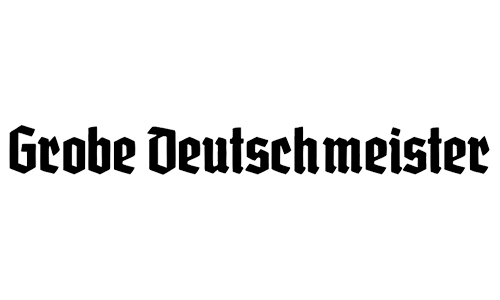 neo-gothic blackletter font