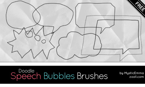 doodle speech bubble brushes