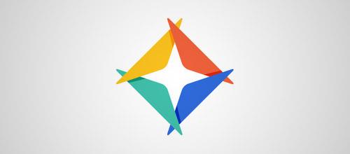 shape overlap logo