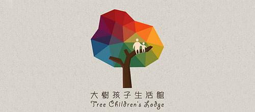 tree low poly logo