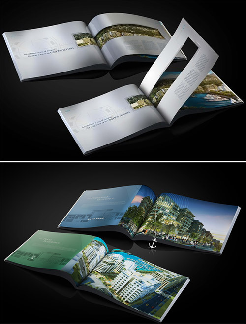 waterfront-property brochure