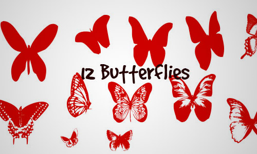 butterfly shapes set