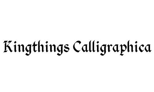 kingthings blackletter font