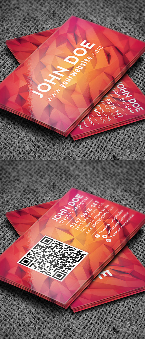 low-poly business card