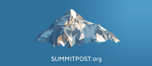 mountain low poly logo