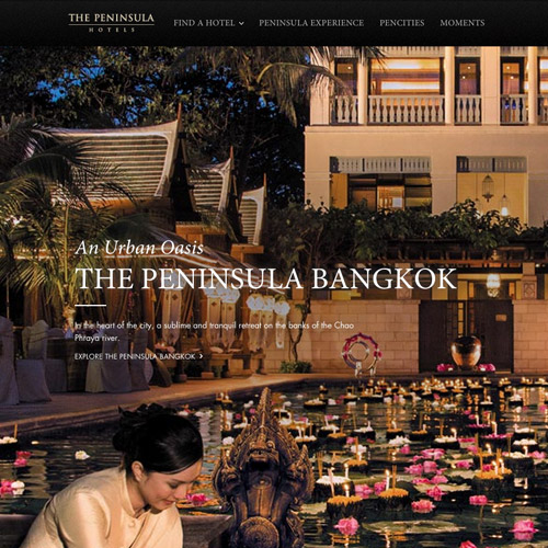 peninsula website design
