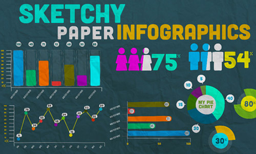 sketchy infographics kit