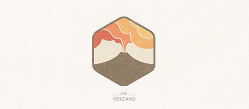 volcano hexagon logo