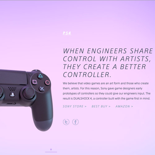 sony parallax website