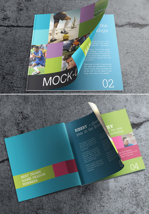 square brochure mock up