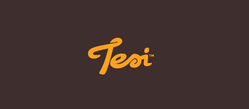 tesi overlapped logotype