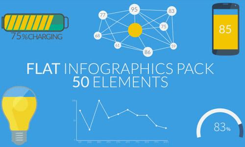 flat infograpics pack