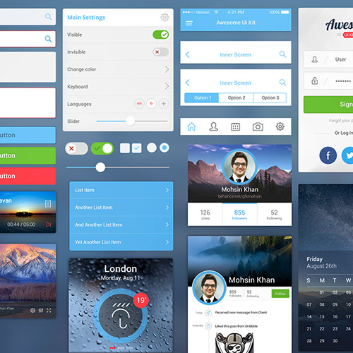 free ui kit mobile