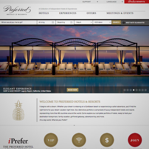 hotels resort website