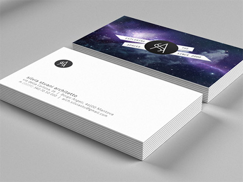 space architect business card design