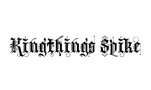 spike blackletter fonts