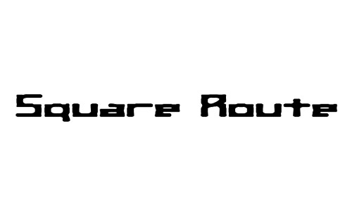 square route fonts
