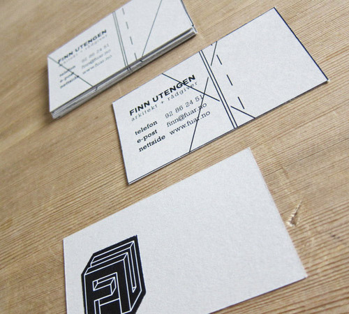 finn architect business card design