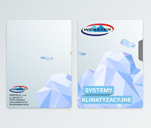 glacier low poly business card