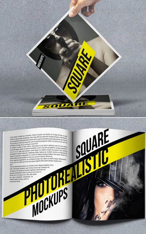 photo square brochure