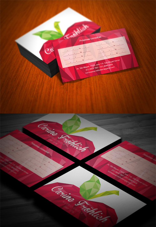 apple low poly business card