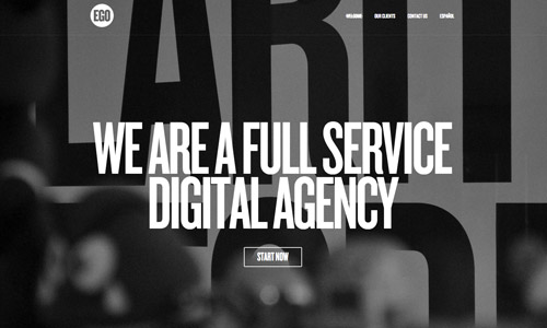 ego gray web design