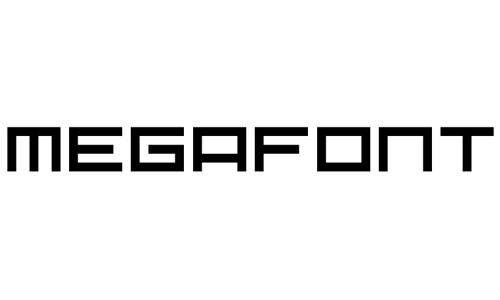 mega square fonts
