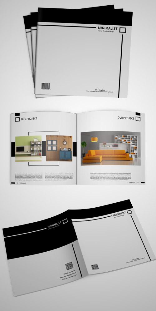 minimalistic square brochures