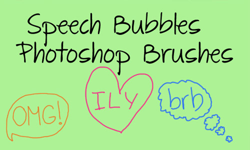speech bubble photoshop brushes