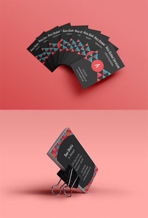 axis low poly business card