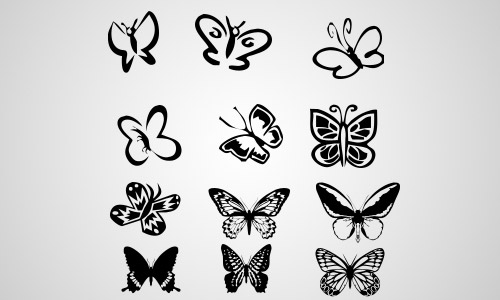butterflies custom shape photoshop