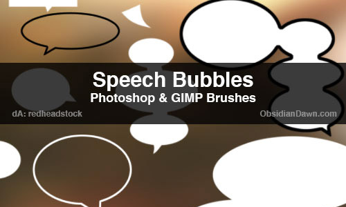 speech bubbles photoshop burshes