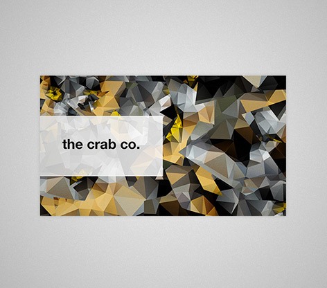 golden low poly business card