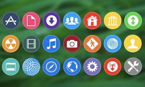 system folder free circle icons