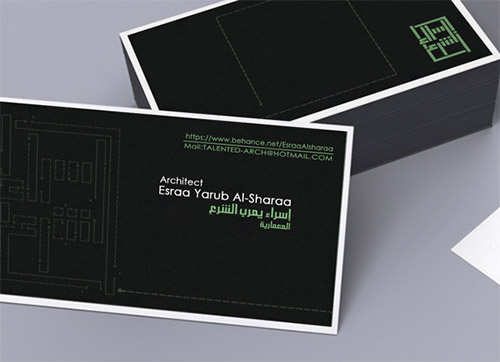 architect business card plan